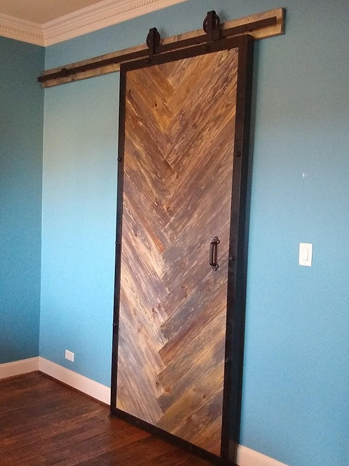 Herringbone Model Barn Door