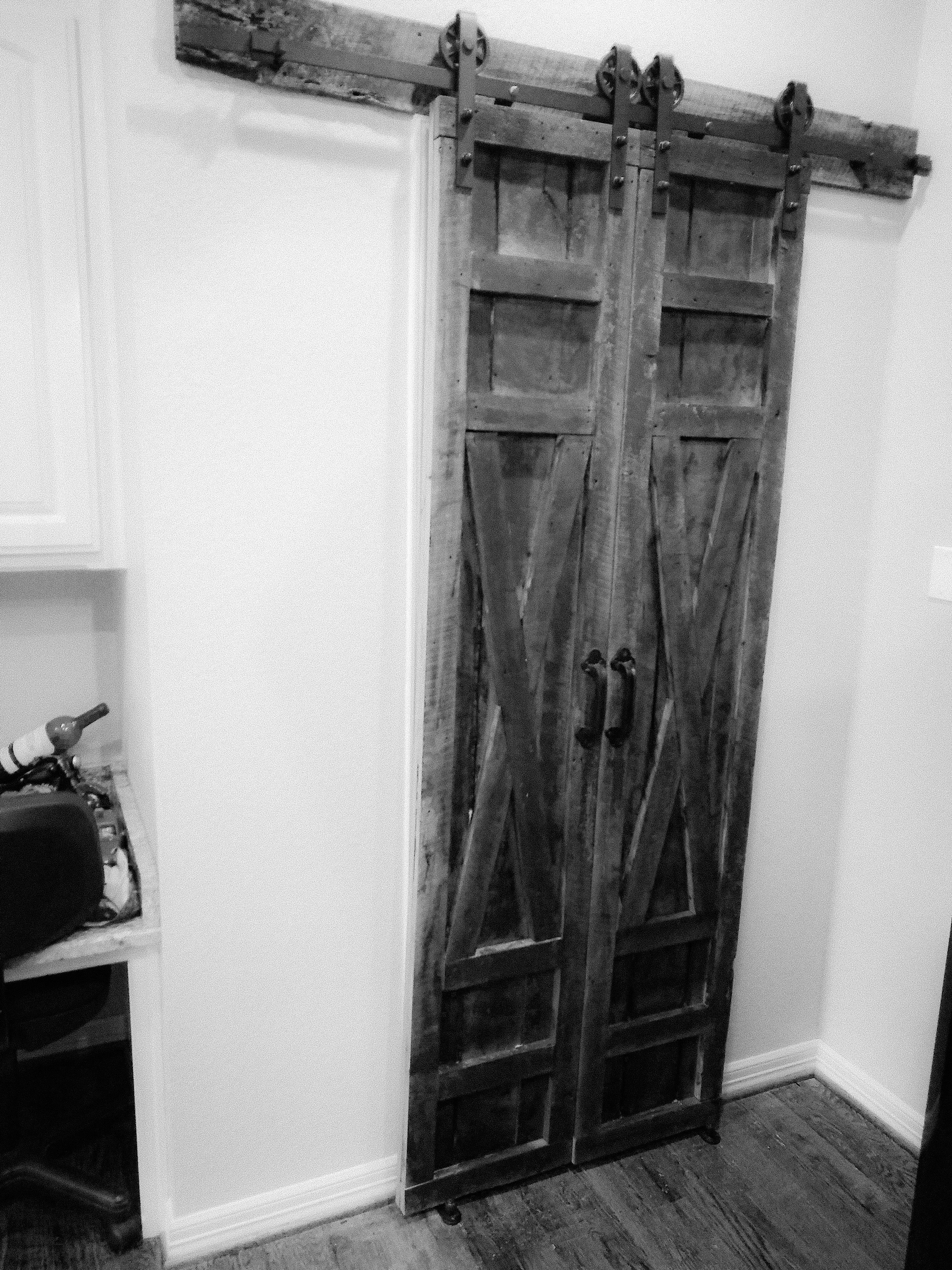 Oak Pantry Barn Door (set)