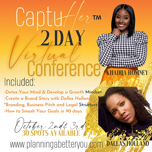 CaptuHer 2 Day Virtual Conference