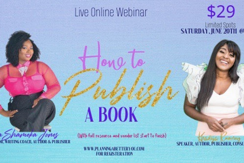 How to Publish a Book Webinar