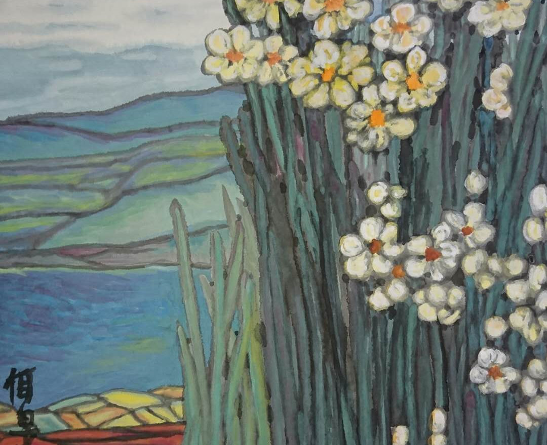 The Full-bloom Narcissi 2016Y 73*65cm