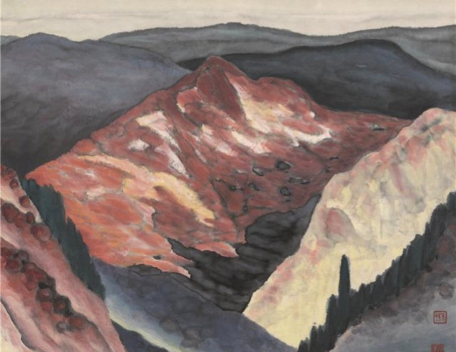 The Taihang Mountain 2003Y 47*47cm