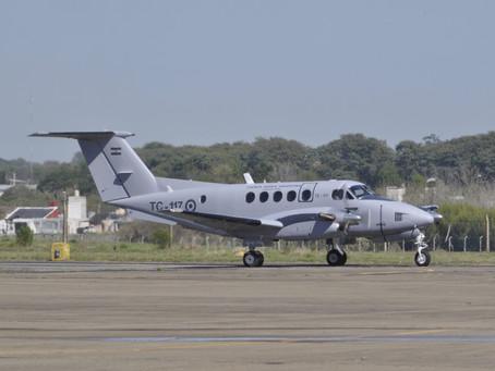 Presentación del Beechcraft Huron de la Fuerza Aérea Argentina