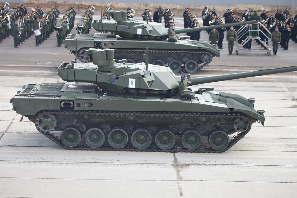 Tanque T-14, basado en el Armata