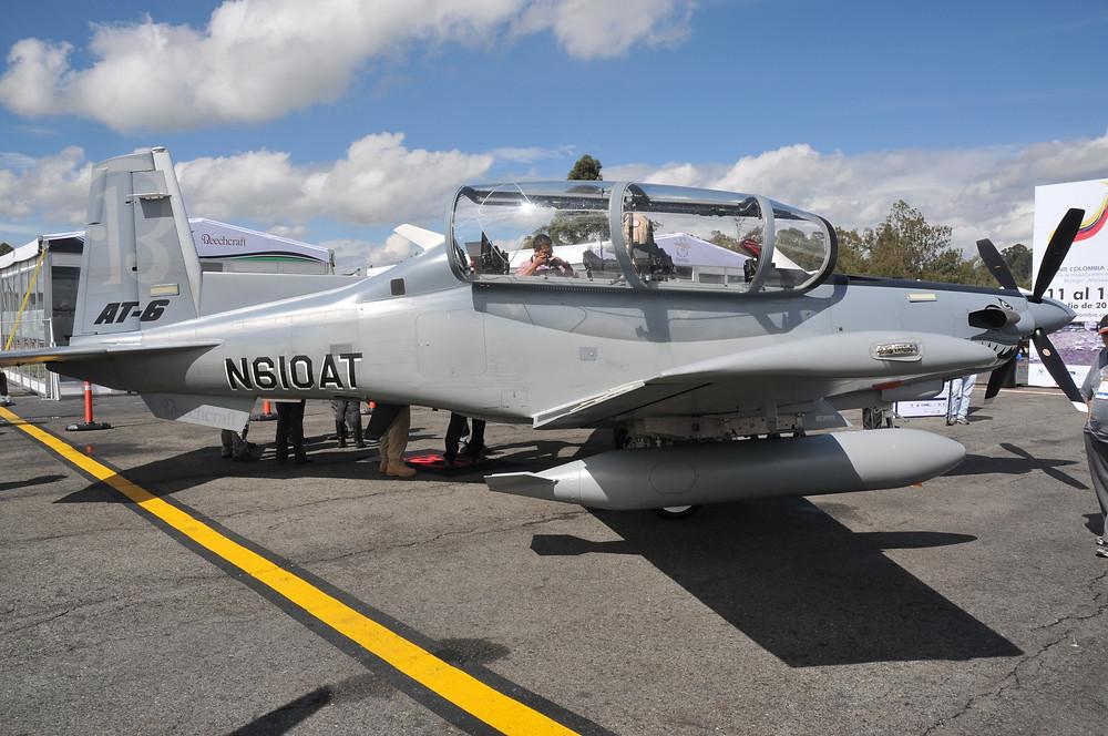 Un Beech T-6B ya fue exhibido en Colombia en ocasión de la feria F-Air 2013. La negociación actual es por el T-6C.