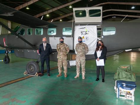 La Aviación del Ejército Argentino incorpora el primer módulo de bioseguridad