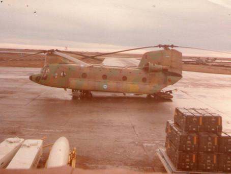 Helicópteros de la Fuerza Aérea Argentina en Malvinas