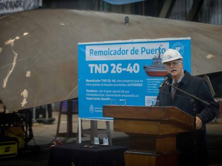 Comienza la construcción de remolcadores para la Armada Argentina