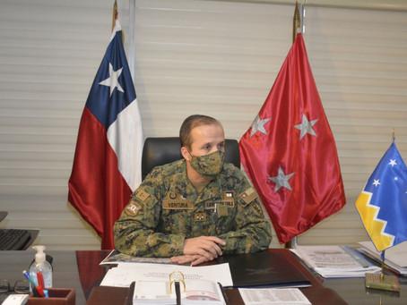 Entrevista al general Rodrigo Ventura,  Comandante en Jefe de la V División del Ejército de Chile