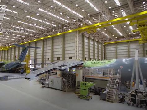 El primer Embraer KC-390 para Portugal toma forma