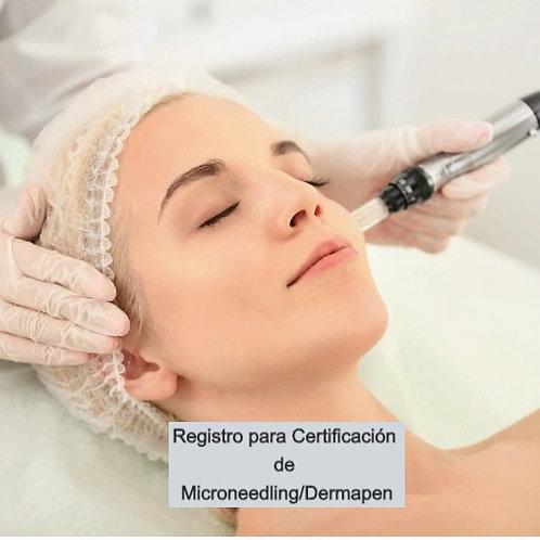 Registro para Clase de Microneedling/Dermapen