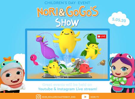 Nori & Gogo's Live Show on Instagram & Youtube!