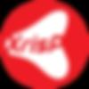 Logo xrisp in a red circle