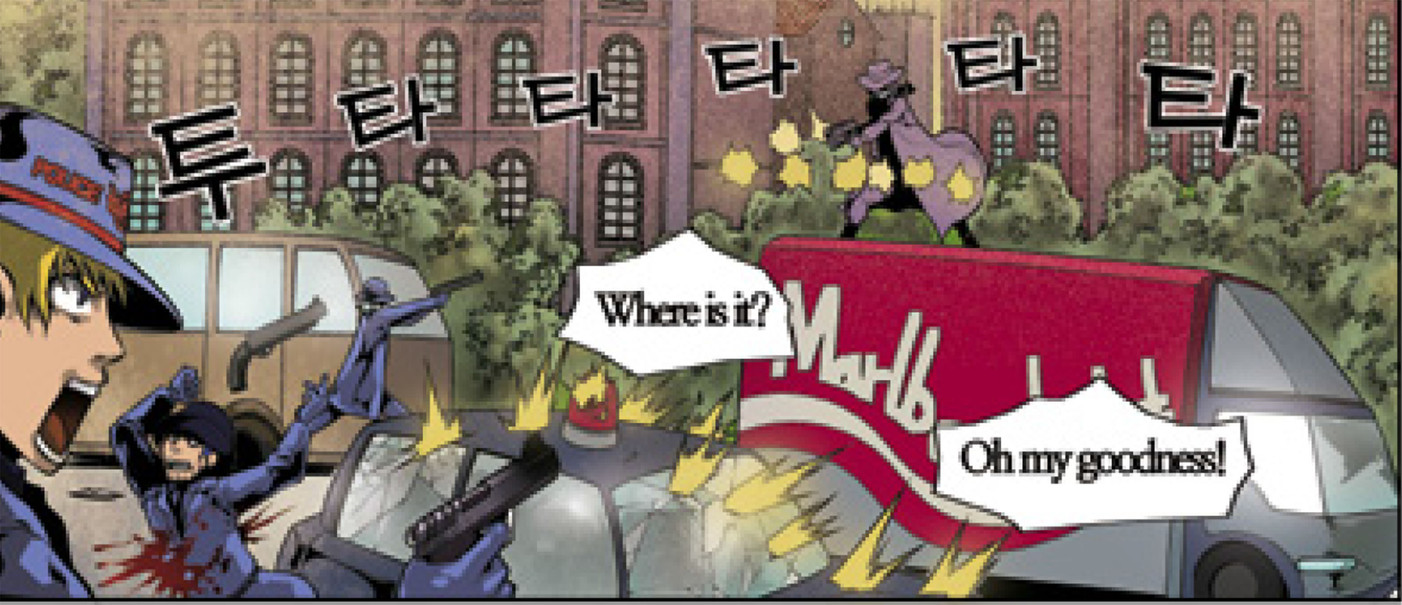 The Birth of B/W Man Webtoon