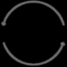 Arrow circle grey