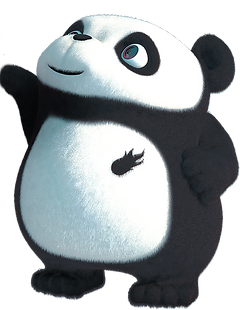 image of a baby panda cartoon animation