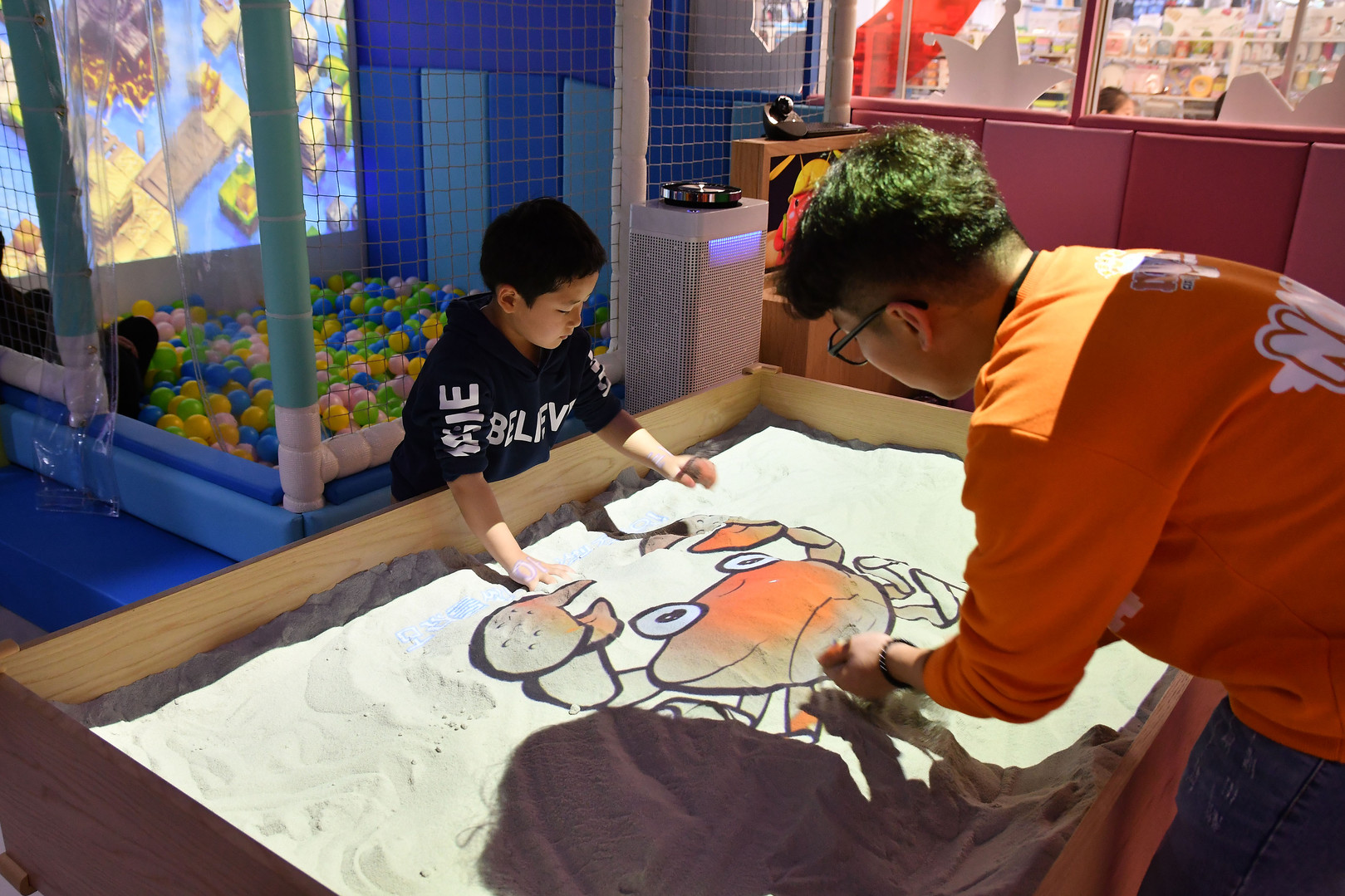 Interactive Sand Table Projection Game