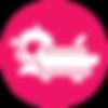 Icon nori rc car in a pink circle