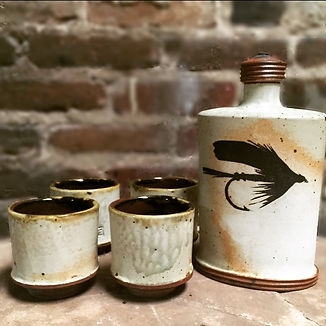Stoneware Whiskey Set