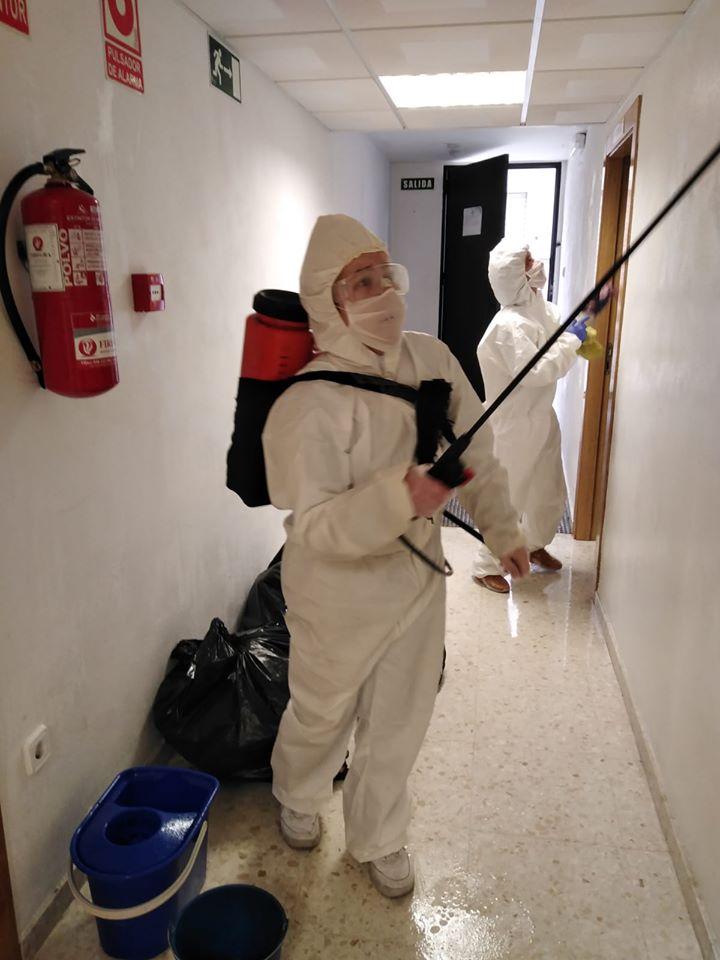 Desinfectando COVID19 Granada