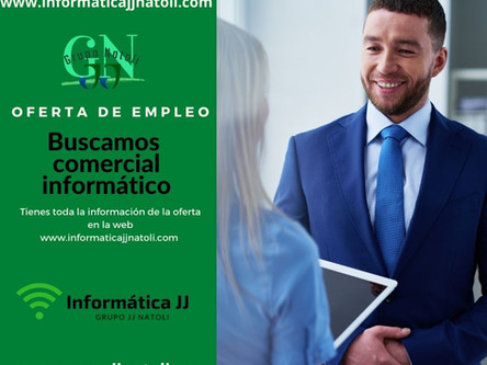 Oferta de Empleo Granada - Comercial Informático