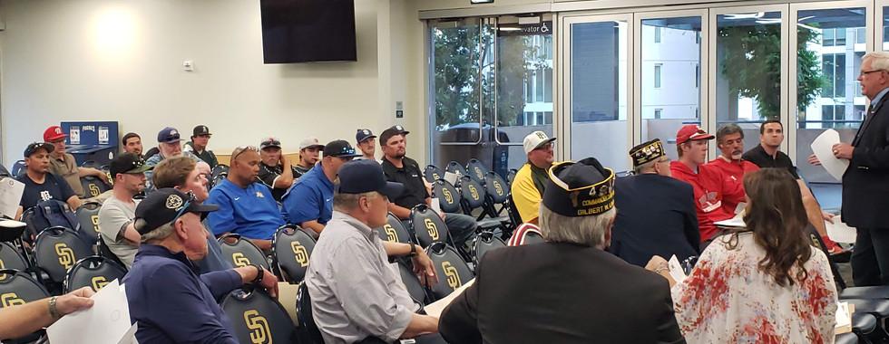 Baseball Commissioner addressing Coaches Mtg