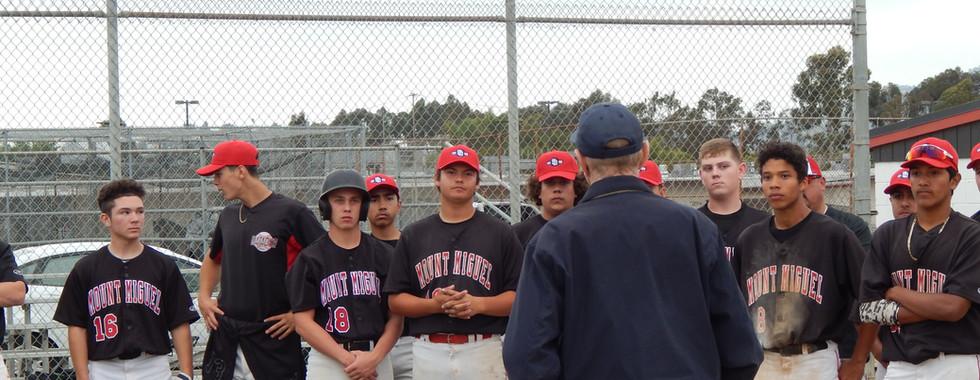 Billy Capps addressing team