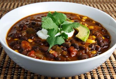 Roasted Tomato & Black Bean Soup