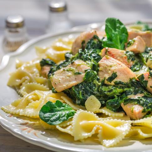Garlic Chicken Spinach
