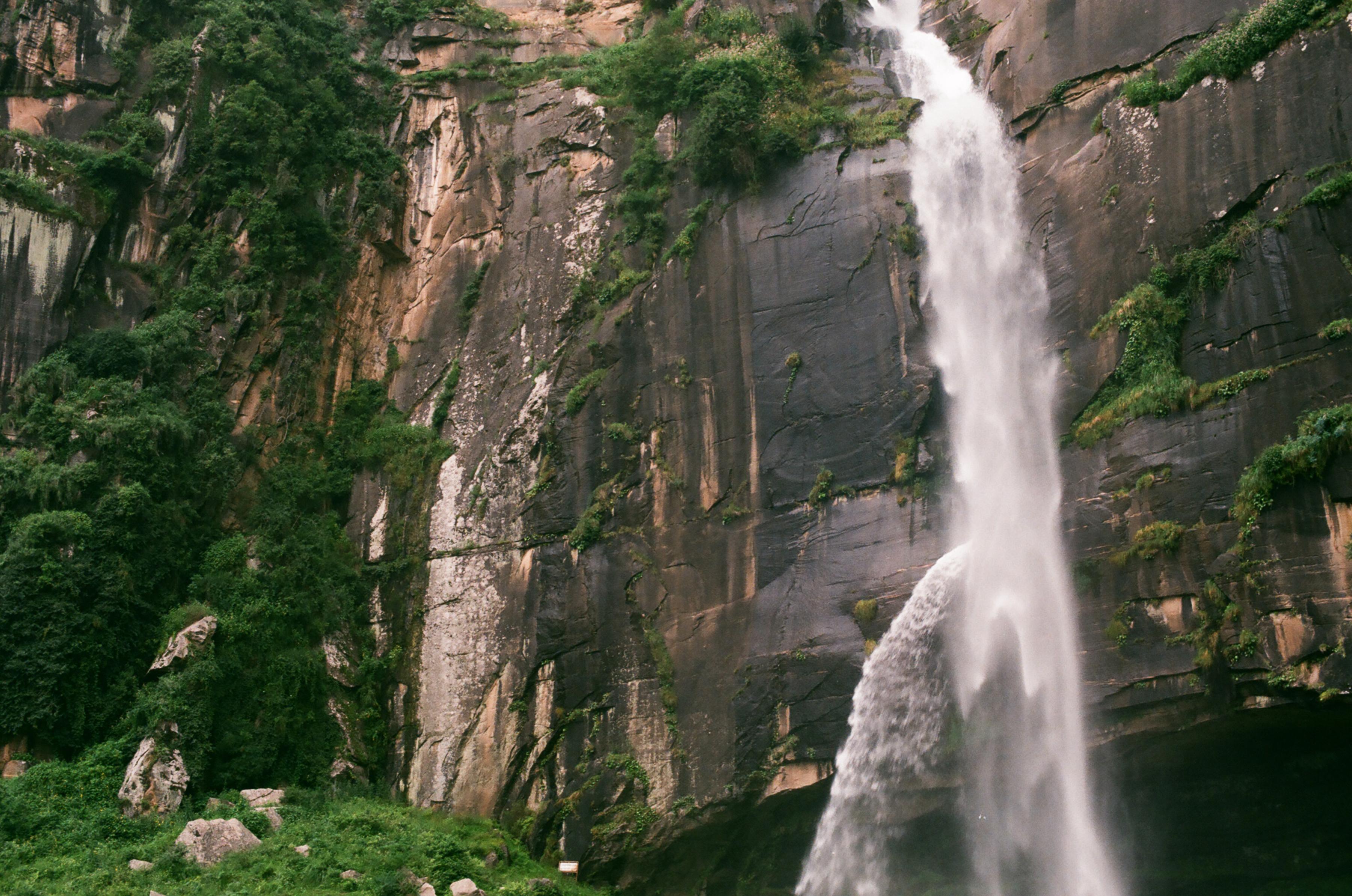 India waterfall landscape 35mm film