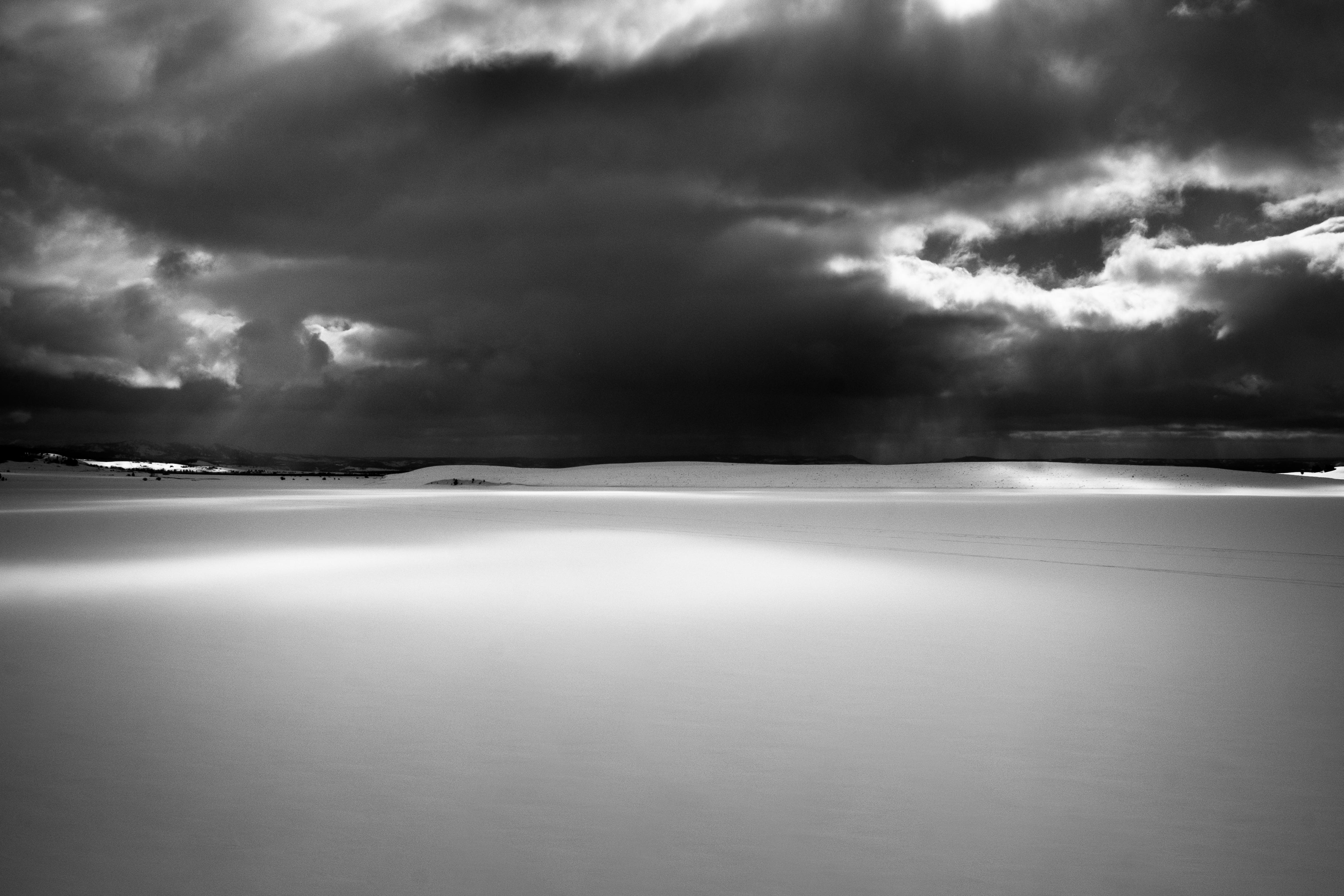 Montana winter storm landscape cloud