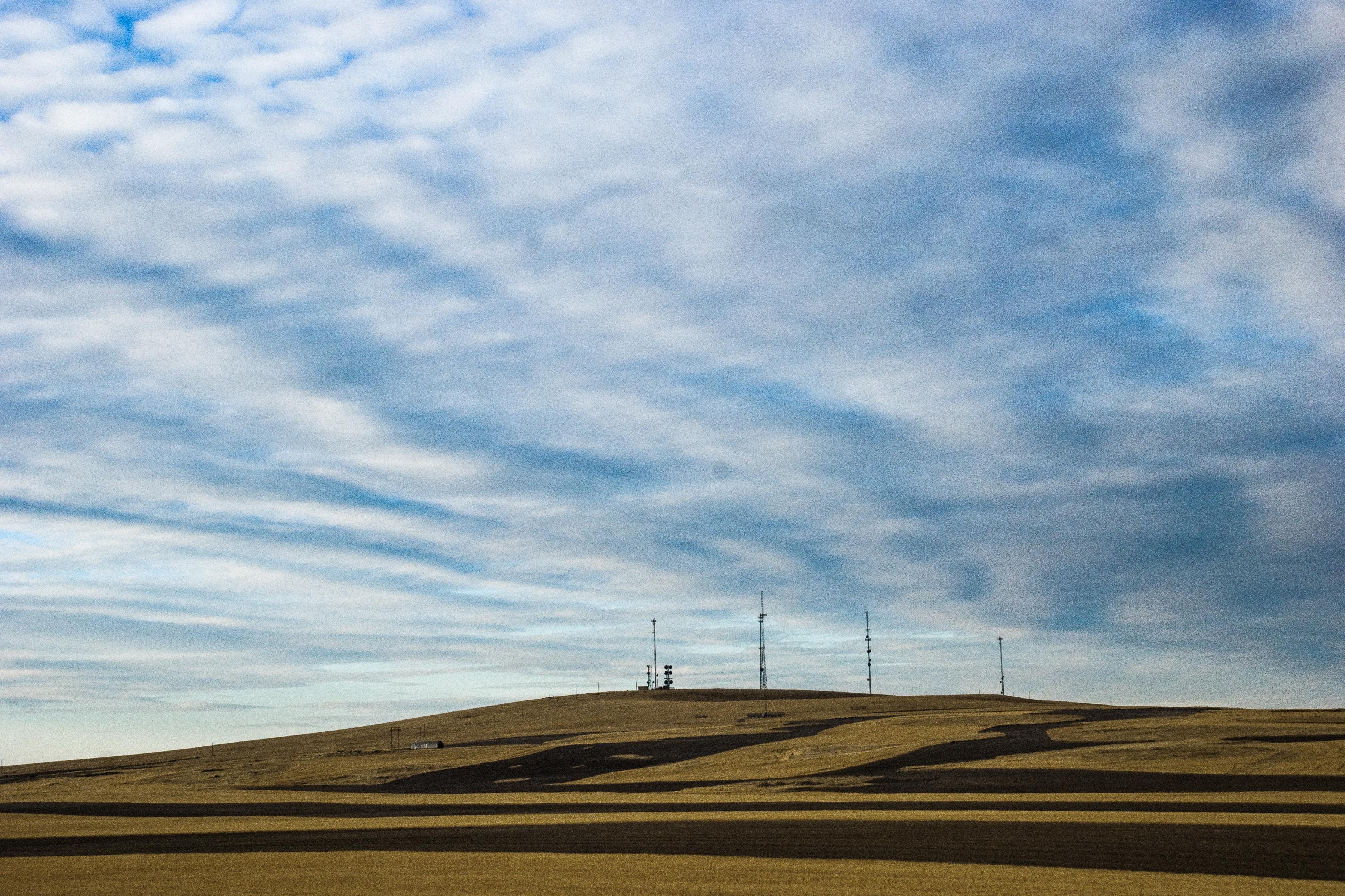 Idaho summer landscape clouds fields