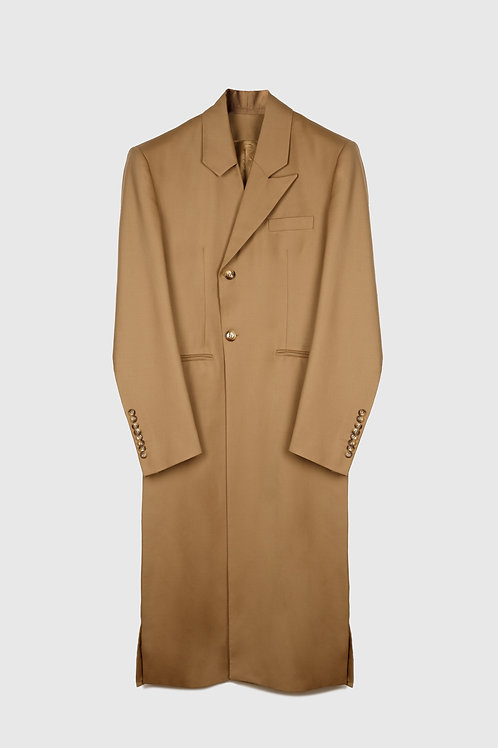 ASYMMETRICAL LAPEL COAT