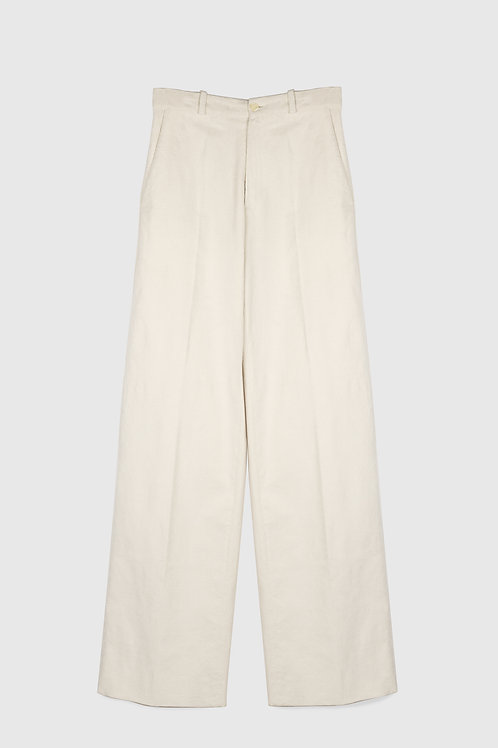 WIDE LEGS CORDUROY PANTS