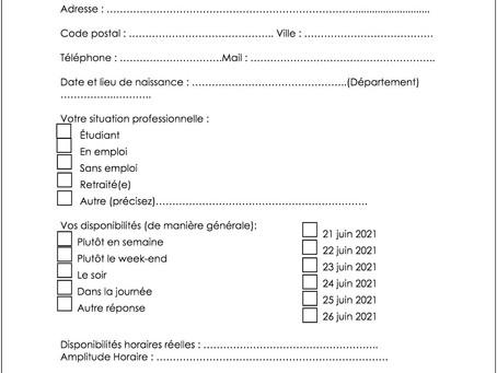 Questionnaire de pré-inscription bénévole Tour de France – Brest 2021Office des Sports
