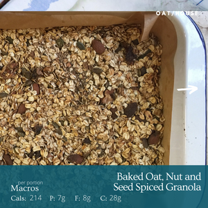 Baked Oat, Nut and Seed Spiced Granola recipe