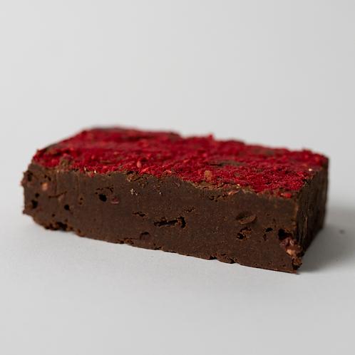 Raspberry Crumble Brownie
