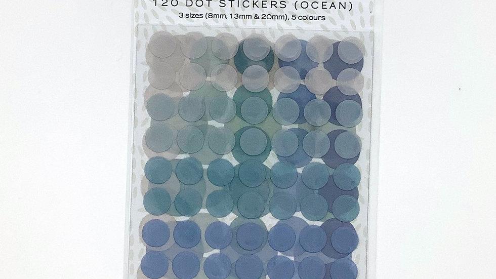 120 Dot Stickers - Ocean