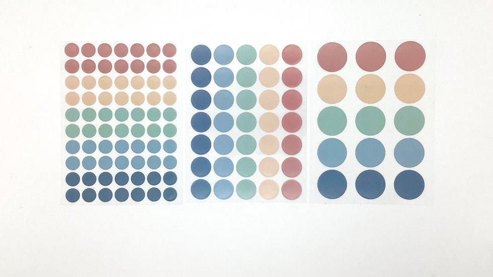 120 Dot Stickers - Muted