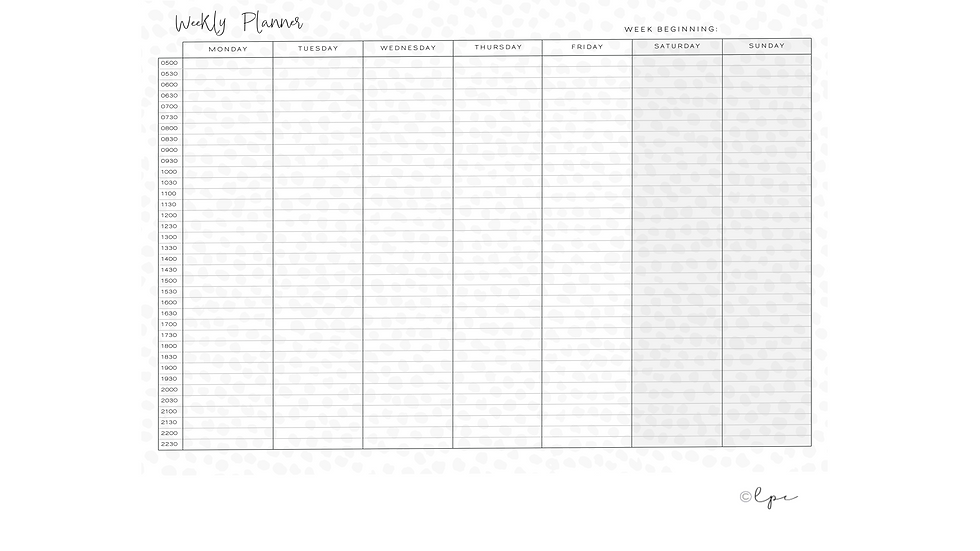 Weekly Desk Planner Pad - A4 Infinity Spot