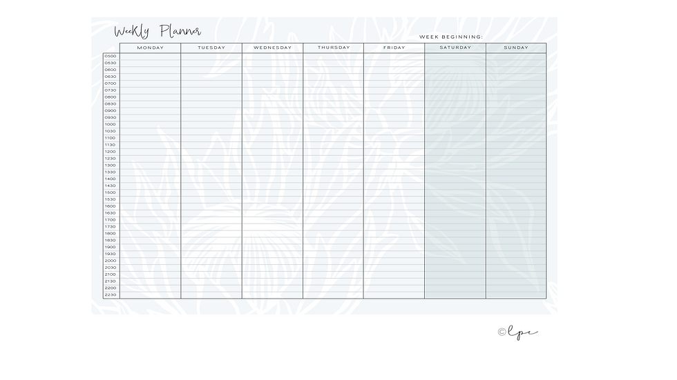 Weekly Desk Planner Pad - A4 Daydreamer