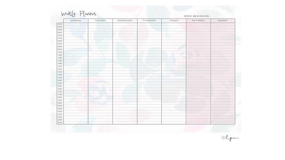 Weekly Desk Planner Pad - A4 Bloomscape