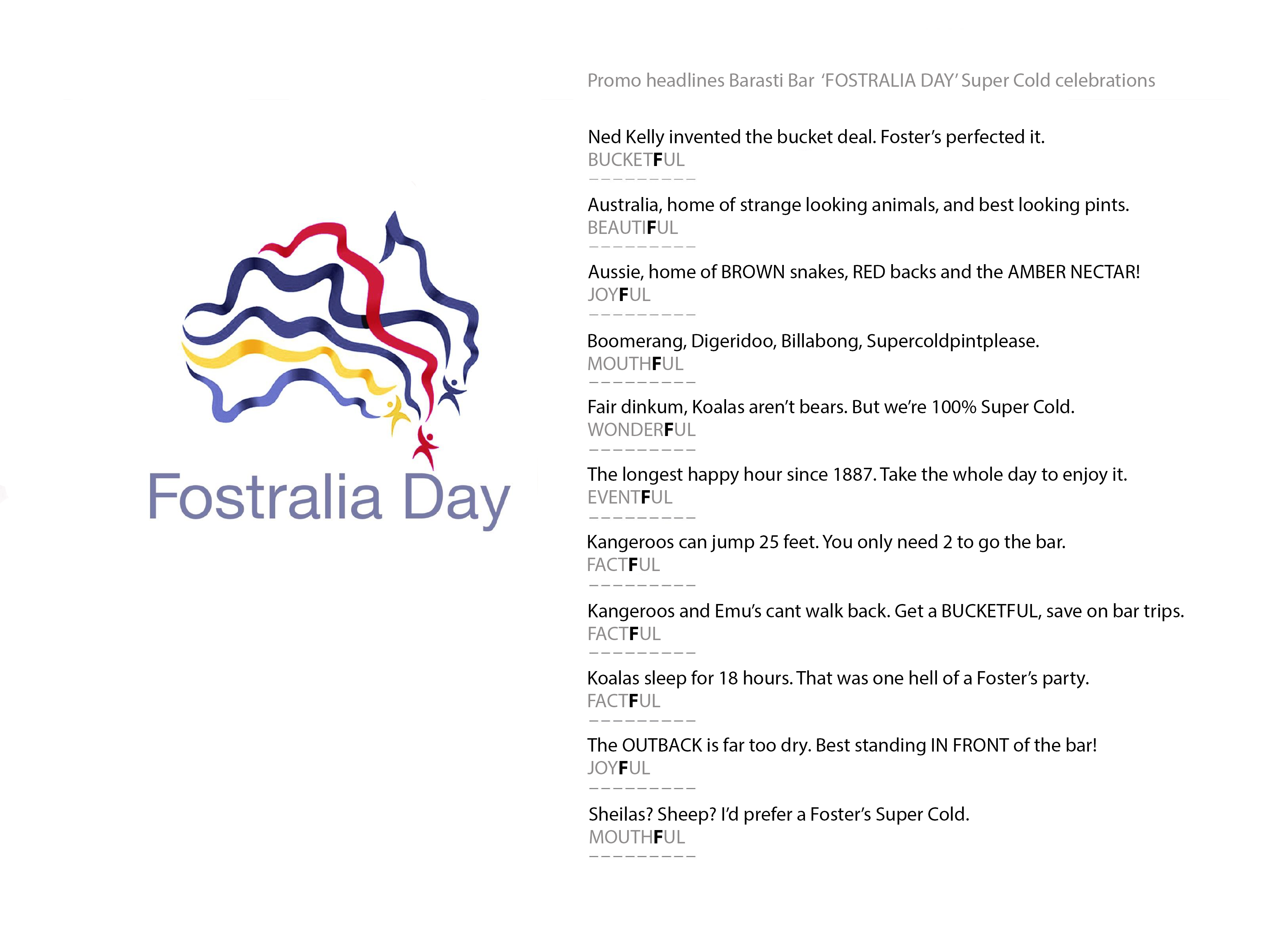 'FOSTRALIA' DAY HEADLINES