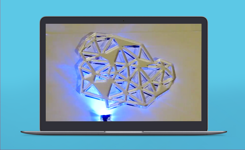 Acrylic LED light testing