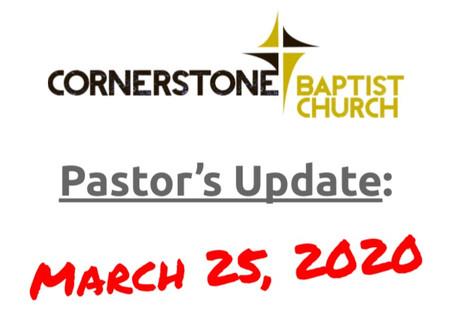March 25 COVID-19 Update