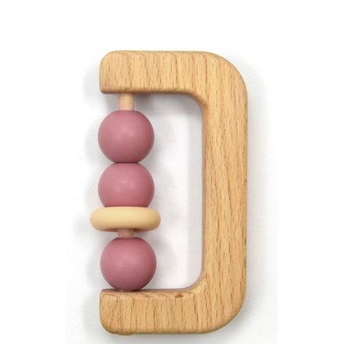 Hochet en bois et silicone