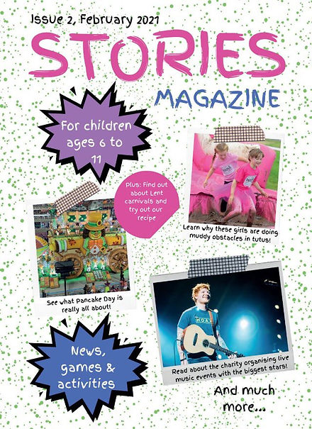 The latest issue of Stories magazine (February 2021)