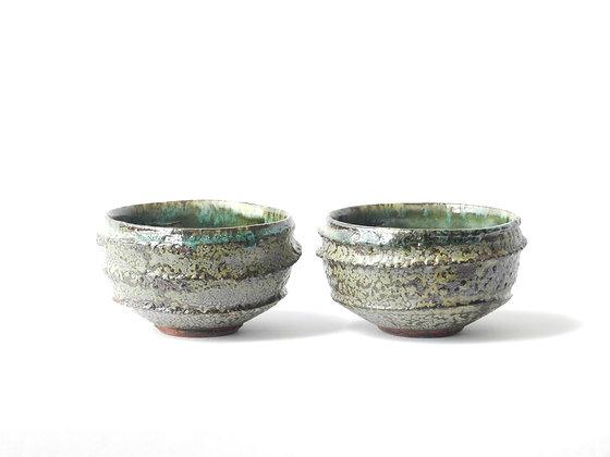 coppia di ciotole in ceramica