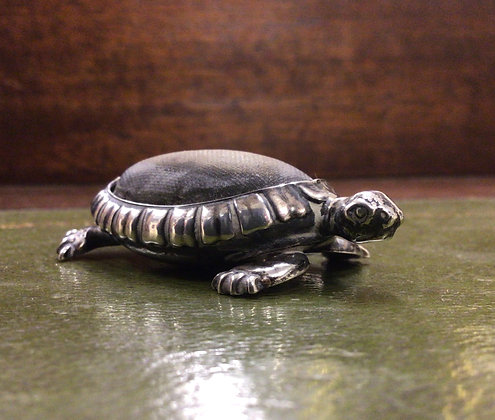 Silver Tortoise Pin Cushion