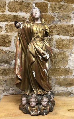 Figure of Charity, Gilt Wood Carved.